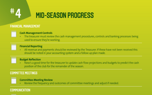 #4 Mid Season Progress Checklist