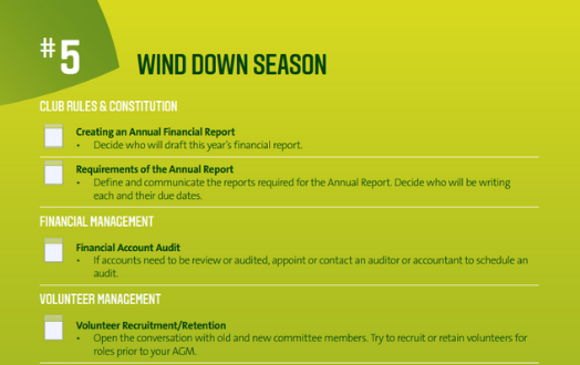 #5 Wind Down the Season Checklist
