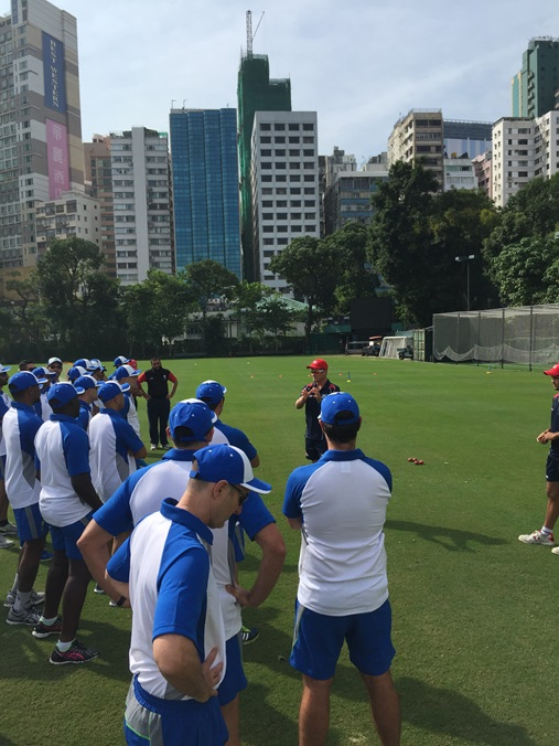 Outdoor session at Kowloon Cricket Club