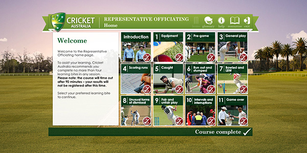 Representative Officiating homepage